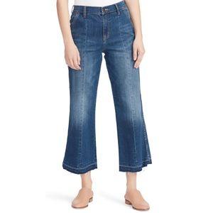 Ella Moss Cropped Wide Leg Jeans NWT